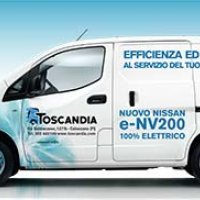 Distribuzione depliant col nuovo Nissan e-NV200 100% elettrico